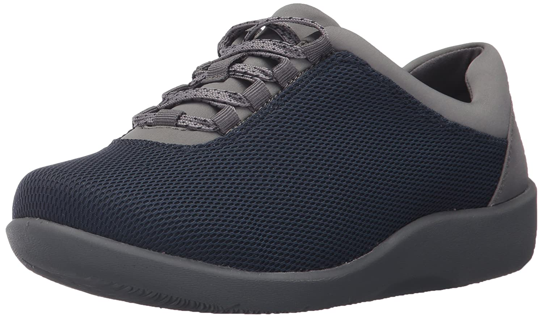 CLARKS Women's Sillian Pine Walking Shoe B01NBKAF0G 11 N US|Navy Mesh