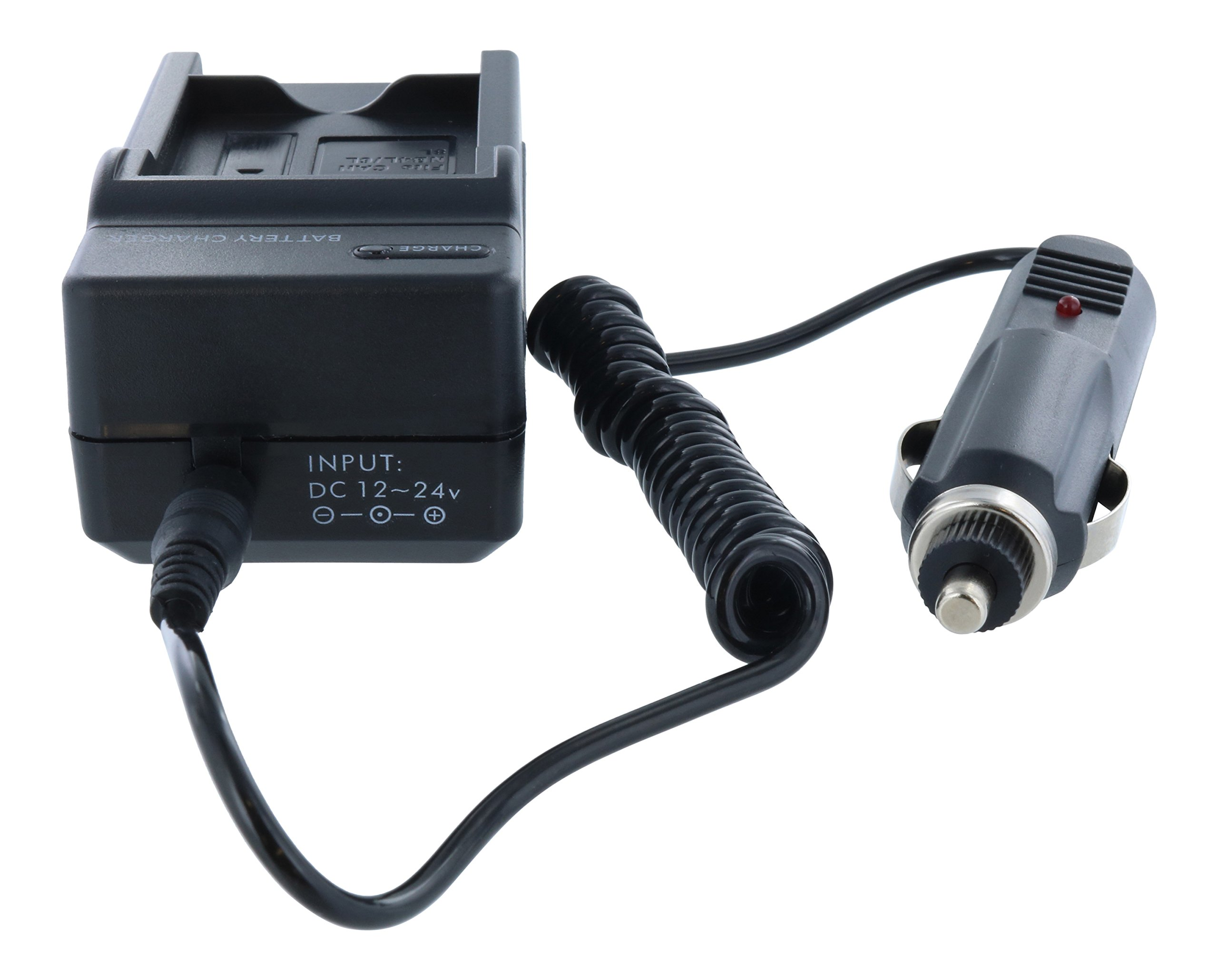 TechFuel Battery Charger Kit for Panasonic HDC-HS9 Camcorder - For Home, Car and Travel Use by TechFuel (Image #6)