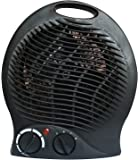 #1 Smart 1500 Watt Quiet Fan Space Heater Table Top Forced Air Heat Portable & Adjustable Thermostat - Hot or Cold Feature