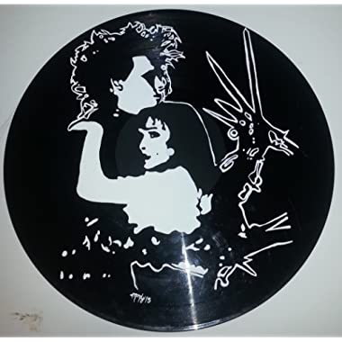 Hand painted Tim Burton Edward Scissorhands vinyl record version 4