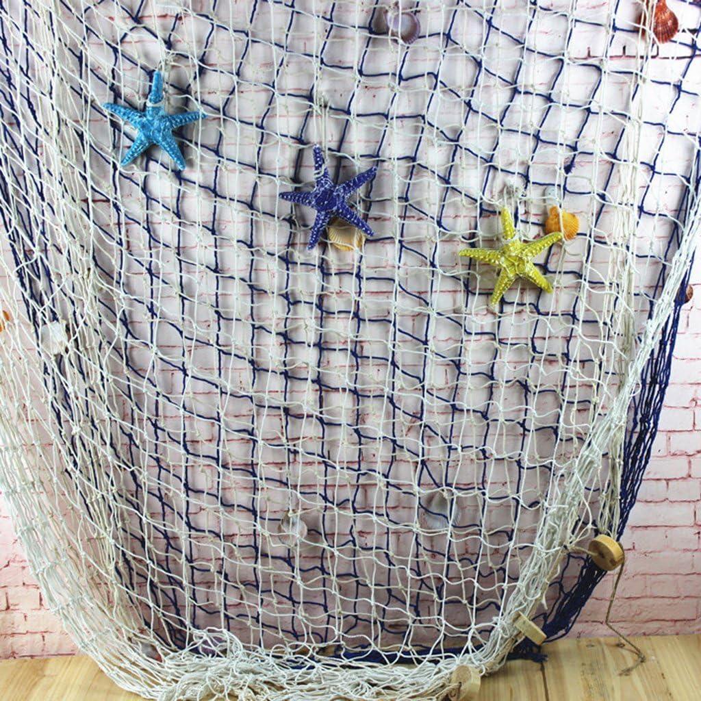 Rete decorativa per pesci nautici Inzopo colore: bianco decorazione da parete