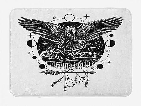 Alfombra de baño del cuervo, boceto del arte del ala de los ...
