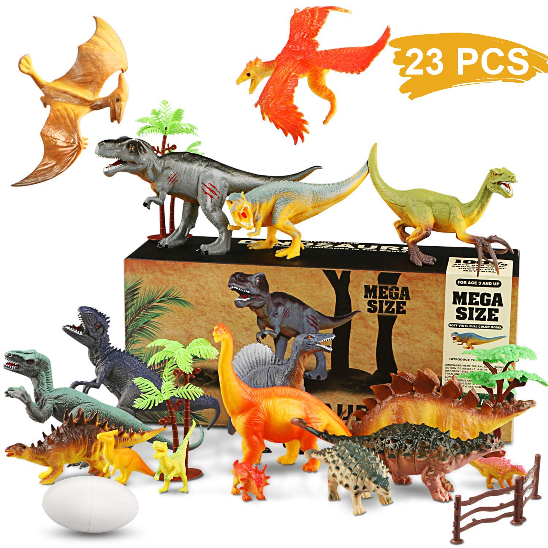 WOSTOO Juego de Dinosaurios, Figura de Dinosaurio 17 Piezas ...
