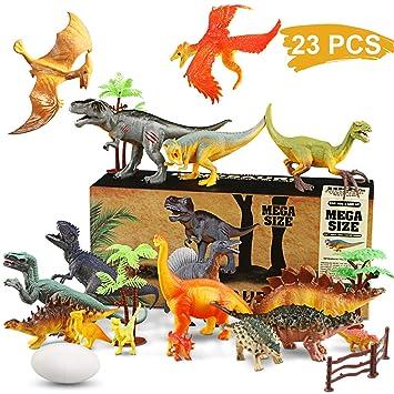 Wostoo Juego De Dinosaurios Figura De Dinosaurio 17 Piezas Juguete