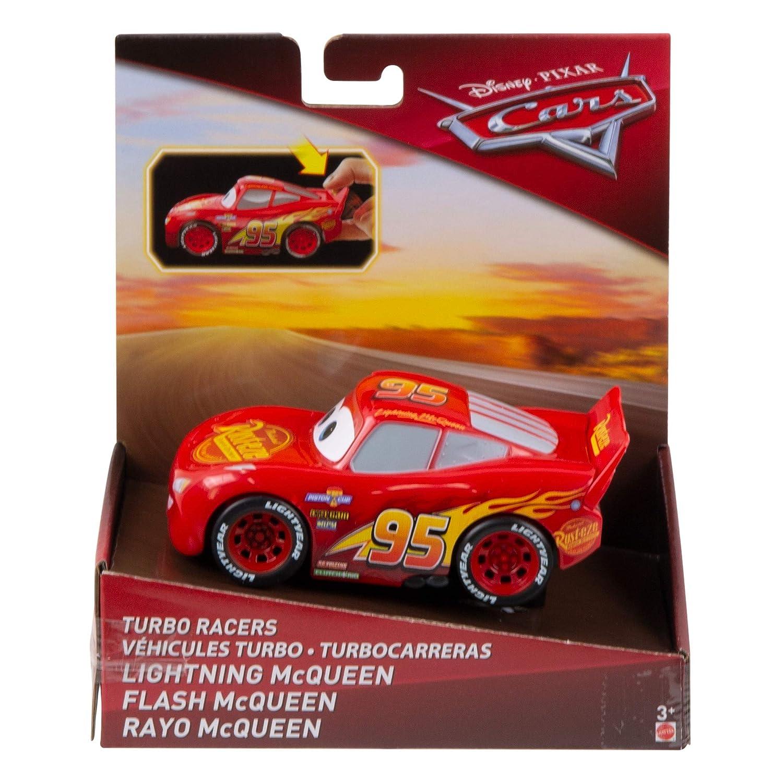 Coches de Juguetes ni/ños 3 a/ños FYX40 Mattel Disney Cars-Veh/ículo Turbocarreras Rayo Mcqueen