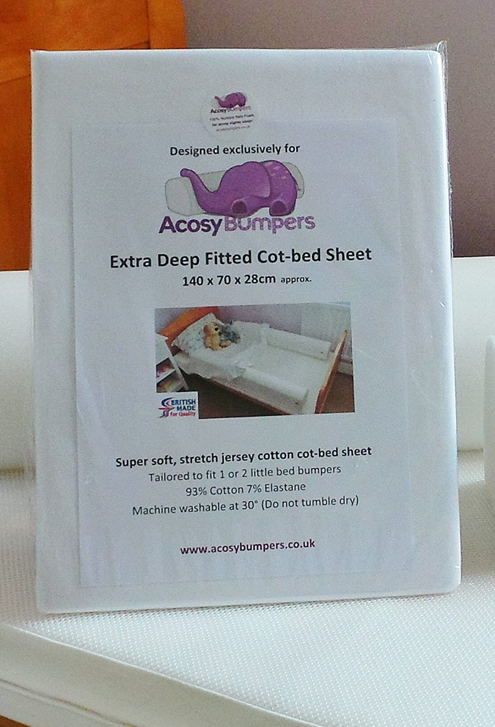 Extra Deep Fitted COTBED Sheet
