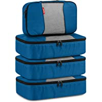 Gonex Packing Cubes Travel Luggage Organizers Different Set 3 Medium+1 Small Deep blue