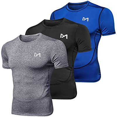 Mens Compression Base Layer Vest T-shirt Thermal Tight Gym Top Sports Fitness UK