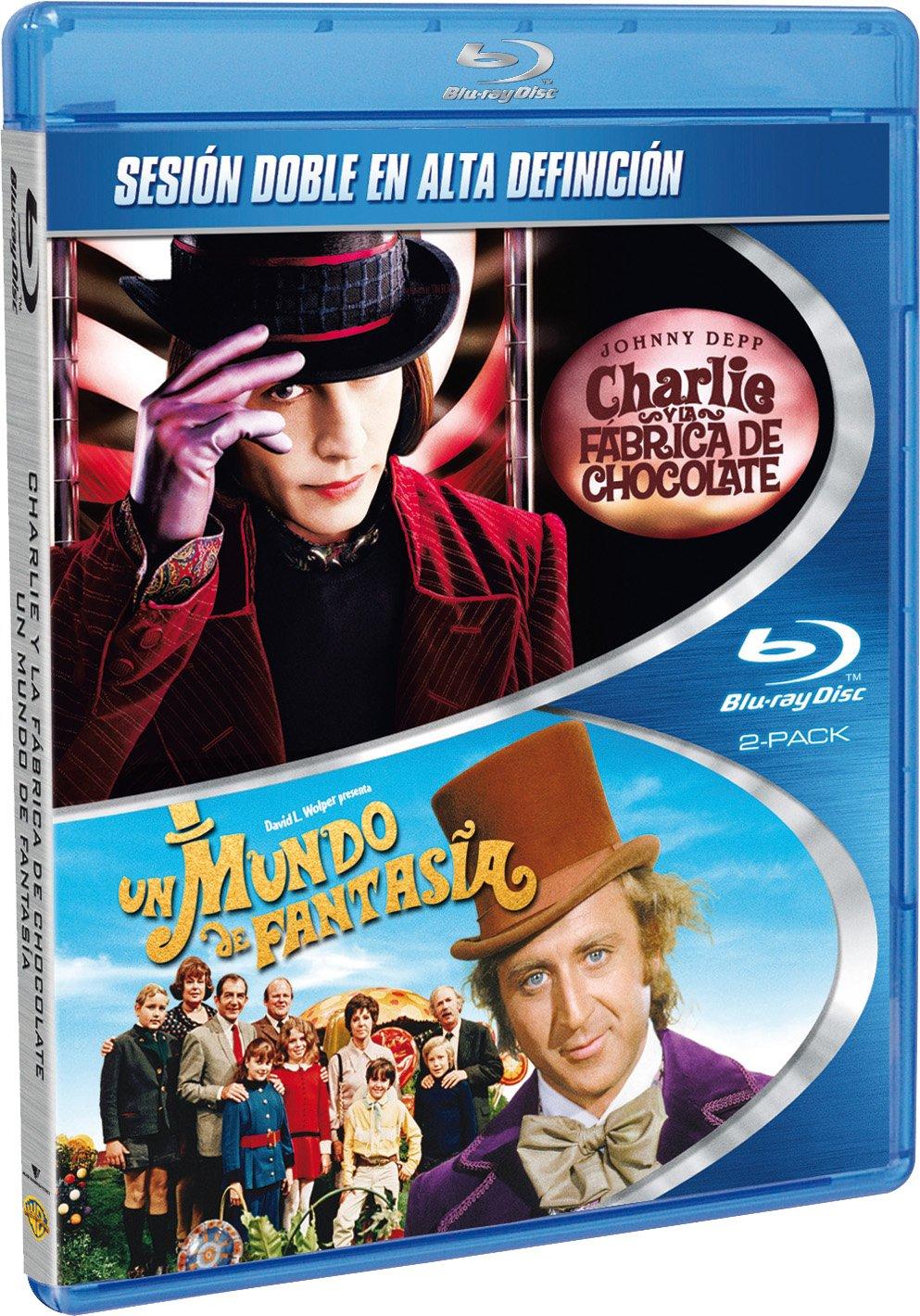 Pack Charlie y la Fábrica de Chocolate + Un Mundo de Fantasía Blu ...