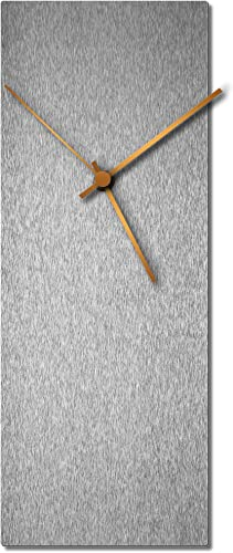 Modern Wall Clock 'Silversmith Clock Large Bronze' Mid-Century Silver Home/Kitchen Decor