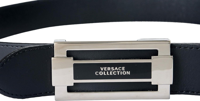 Versace Collection 100/% Leather Black Reversible Mens Belt Sz US 38 IT 95