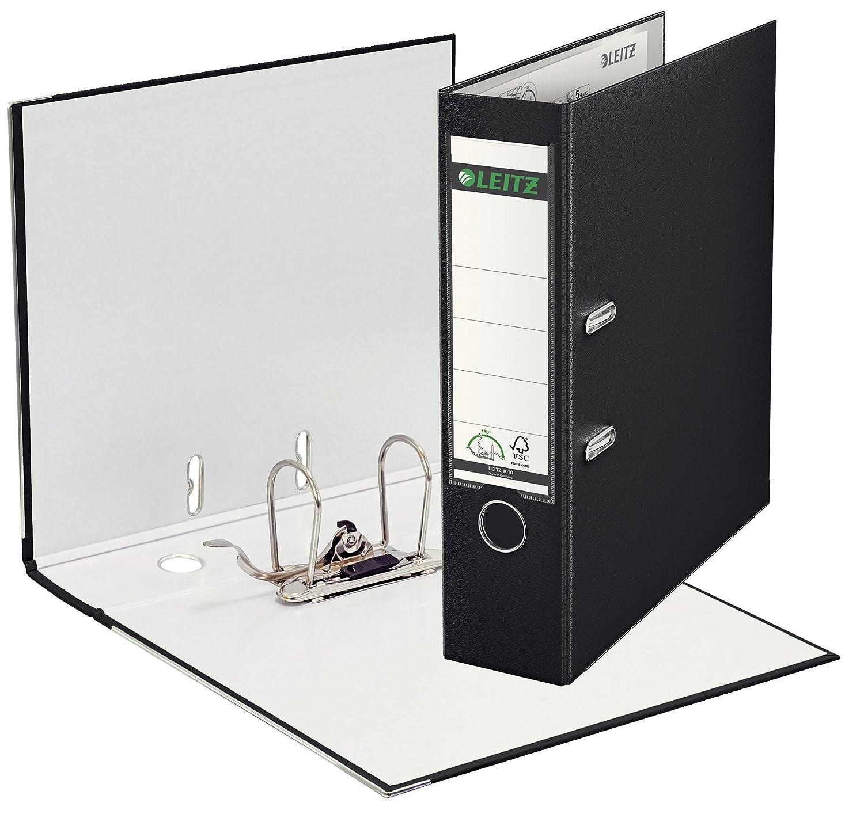 Leitz 180° 1010 - Archivador de palanca (A4, lomo 80 mm, plástico), color negro: Amazon.es: Oficina y papelería