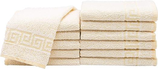 ZOLLNER 12 Toallas para la Cara, algodón 100%, 30x30 cm, Amarillo ...