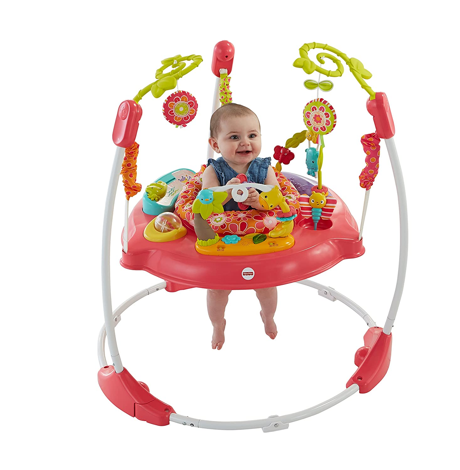 766bc50a3024 Amazon.com   Fisher-Price Pink Petals Jumperoo   Baby