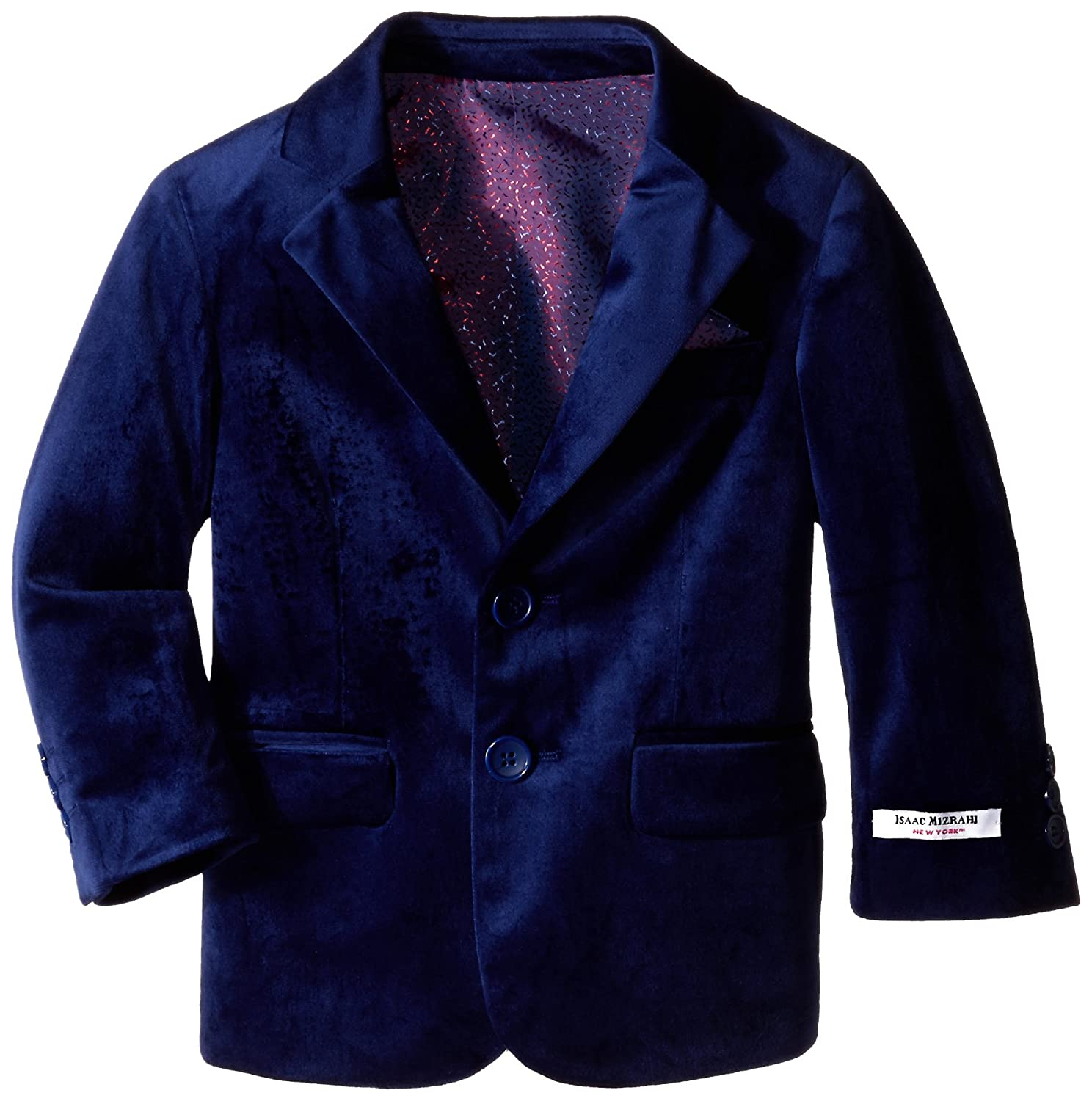 Isaac Mizrahi Little Boys' Single-Breasted Velvet Blazer Isaac Mizrahi Boys 2-7 BL8012Y