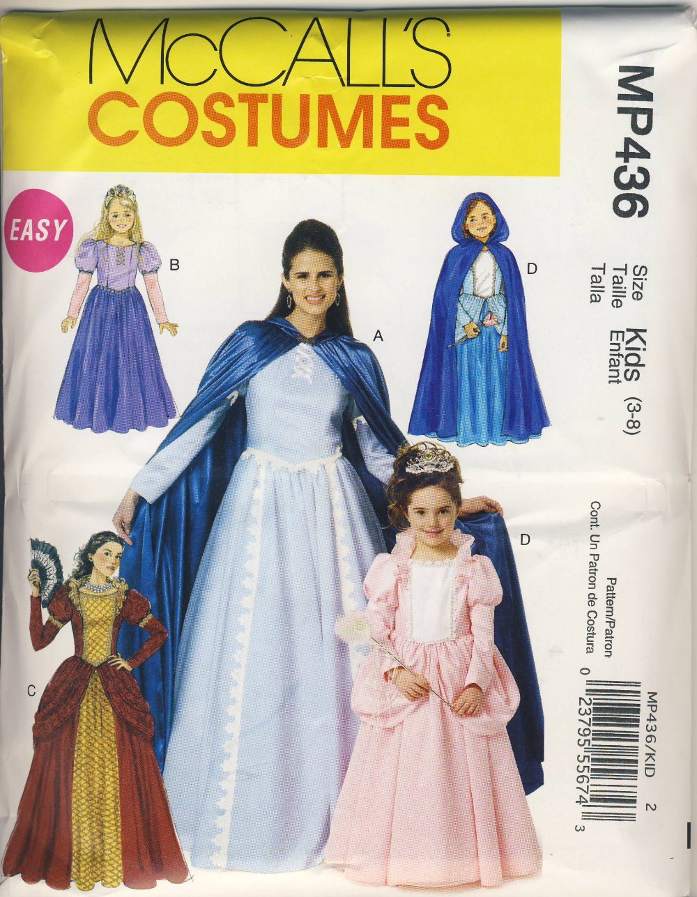 McCall Sewing Pattern MP436 (M6420) - Use to Make - Easy Kids Renaissance / Medieval / Princess Costumes - Sizes 3-8 by McCall McCall Pattern Co.