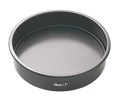 "KitchenCraft MasterClass Non-Stick Round Sandwich Tin with Loose Base, 18 cm (7"")"