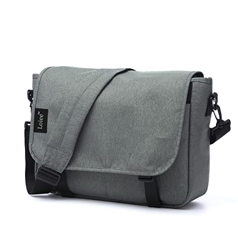 82084a7dfe Loiee 14 Inches Men s Classic Messenger Bag Life Boost Vintage Canvas  Satchel Messenger Laptop Shoulder Crossbody Sling Bag for All-Purpose Use   Amazon.ca  ...