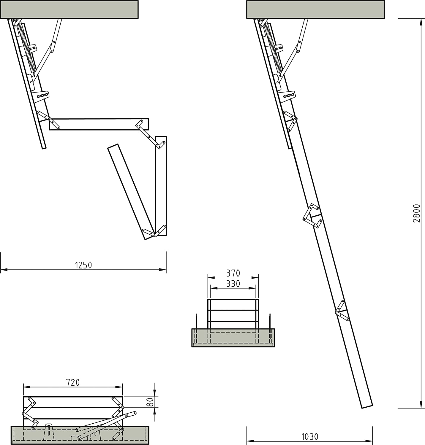 lyte easiloft 4 section timber loft ladder fully assembled including insulated hatch door and handrail amazoncouk diy u0026 tools