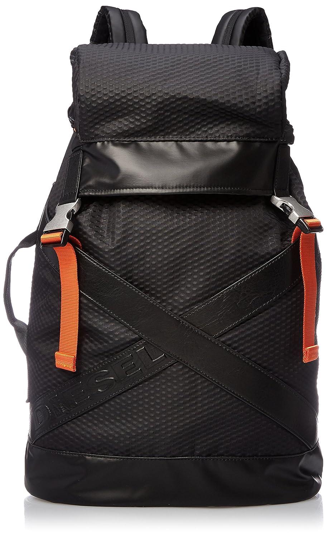 (ディーゼル) DIESEL メンズ バックパック DIESELXX XXBACK - backpack X05306P1601 B0745SC1WY ブラック UNI (Free)