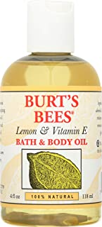 product image for Burt's Bees 100% Natural Lemon and Vitamin E Body and Bath Oil - 4 Ounce Bottle