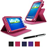 rooCASE Galaxy Tab 3 7.0 Case - Dual View PU Leather Case Cover Stand for Samsung Galaxy Tab 3 7.0 inch, Magenta