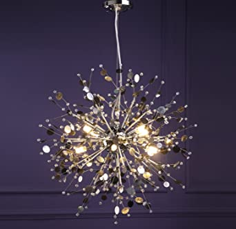 GDNS 8 Pcs Lights Chandeliers Firework LED Light Stainless Steel ...