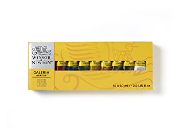 Winsor & Newton Set of 10 Colors Acrylic Paint