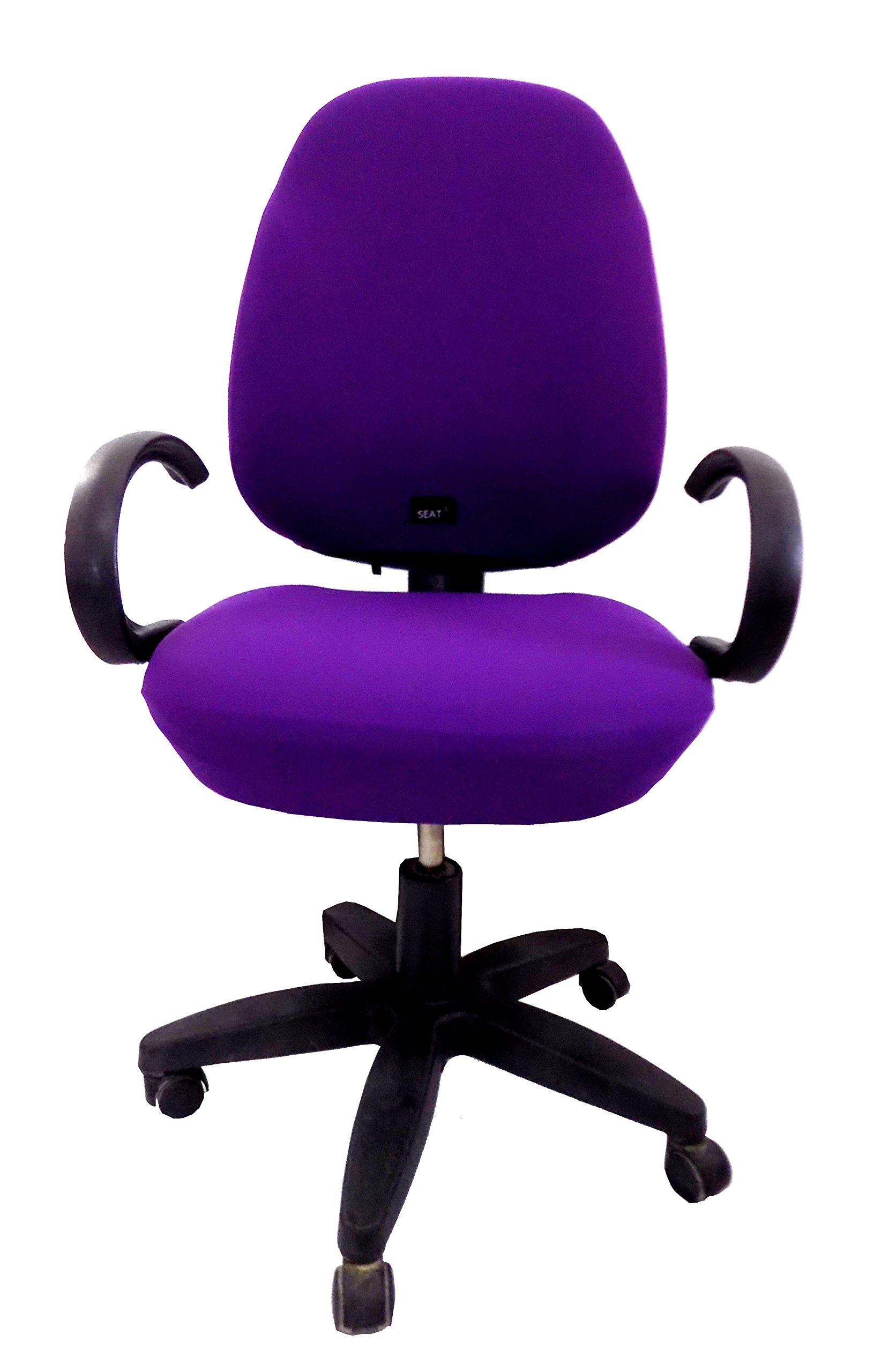 Office Chair slipcover - Seat x - one Size fit All, Adjustable Full Cover. Universal, (Purple)