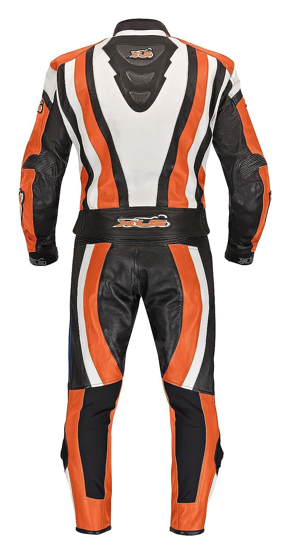 XLS Lederkombi Zweiteiler Orange Motorradkombi zweiteilig