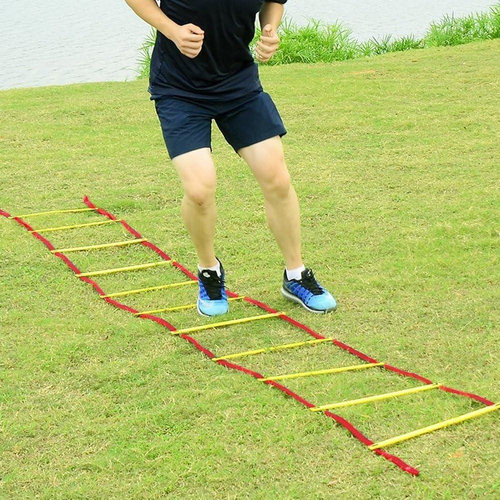 MRCARTOOL Escalera de Agilidad y Velocidad, para Entrenamiento y Ejercicio Escalera para Fútbol con Bolsa de Transporte, 4 Rung(6.6 Feet): Amazon.es: Deportes y aire libre