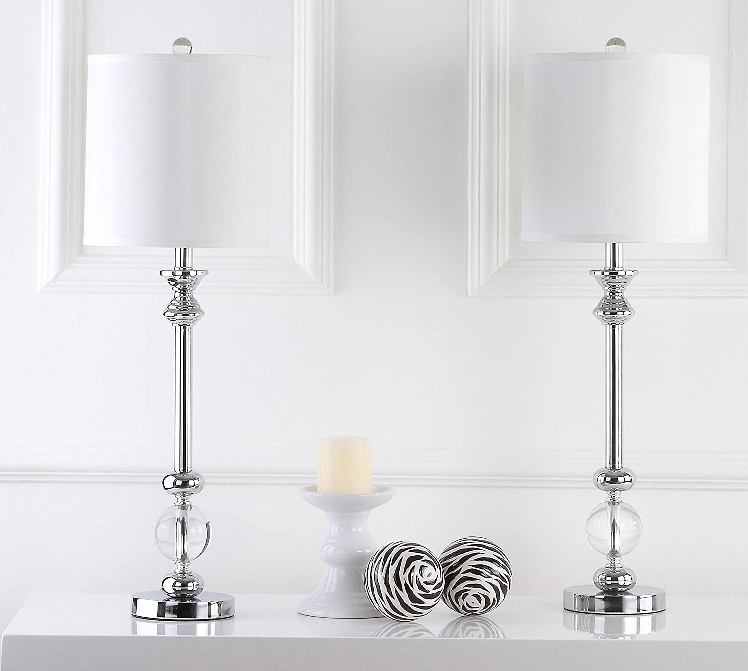 Safavieh Lighting Collection Erica Crystal Candlestick 31 Inch Table Lamp Set Of 2 Home Kitchen