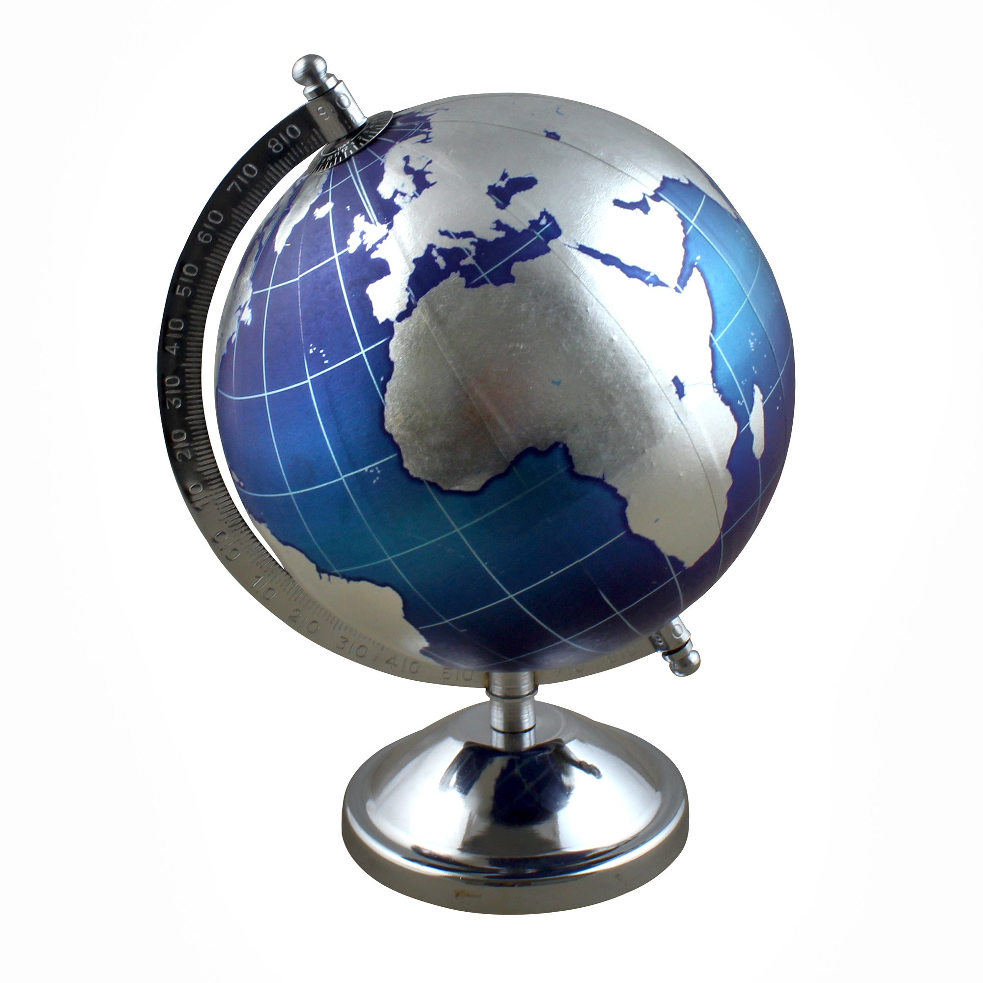 Desktop World Globe Map Rotating Political with Stand, 9.5 Inches - Gift for Home Office Desk Decoration - Stock Clearance Sale!!