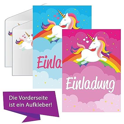 Unicornio Amor Unicornio Tarjetas De Invitación Cumpleaños