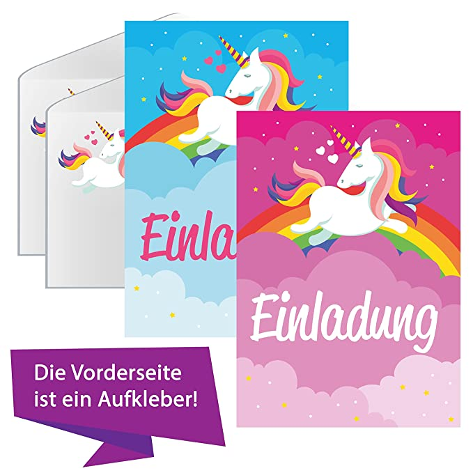 Unicornio Amor Unicornio Tarjetas de invitación Cumpleaños ...