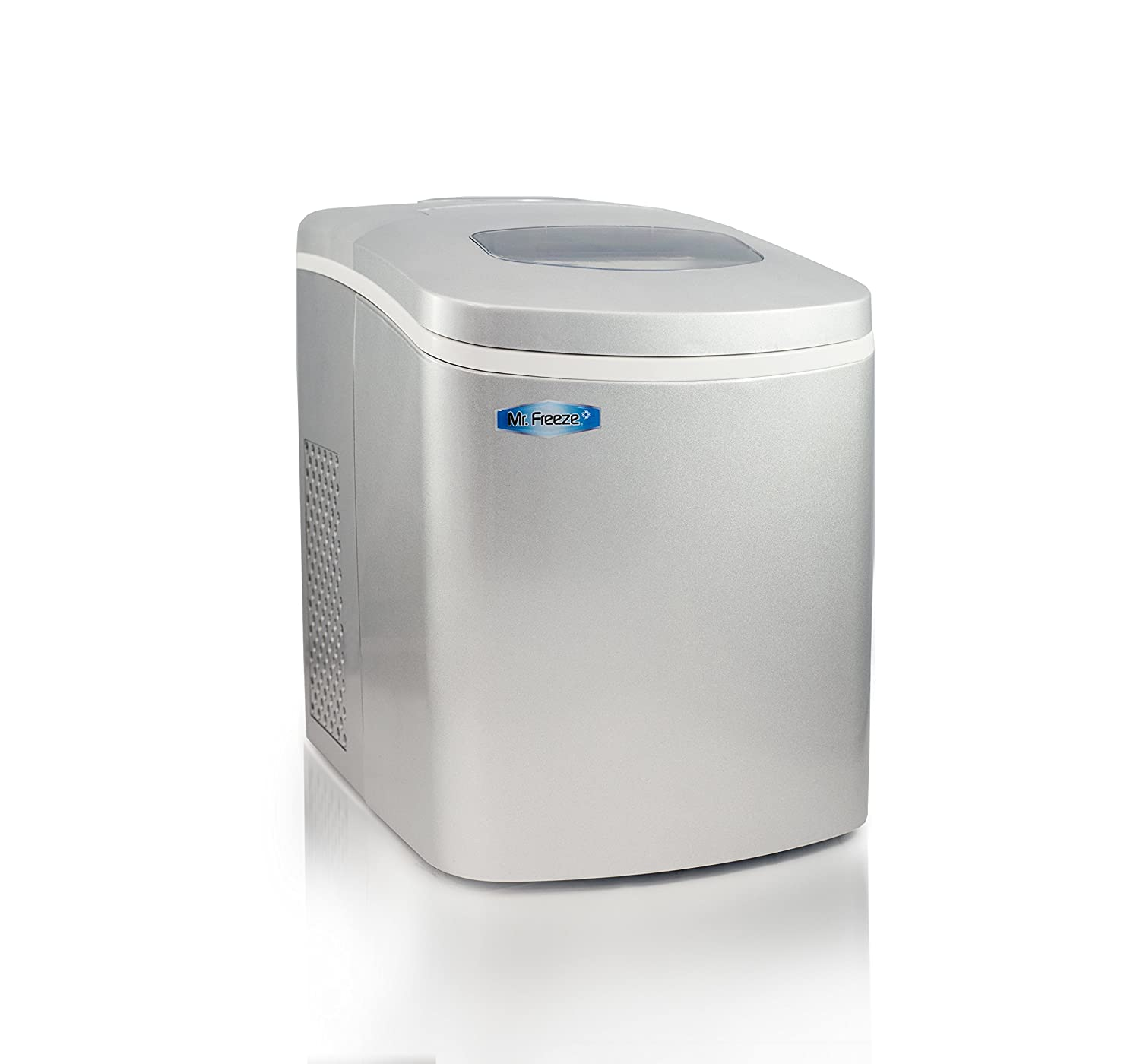 Mr. Freeze MIM-18SI Maxi-Matic Portable Automatic Ice Maker with Lid, Silver
