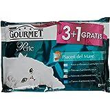 Gourmet - Perle Alimento Completo per Gatti Adulti, Piaceri del Mare, 4 x 85 g - 340 g