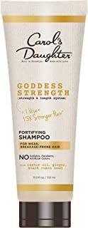 product image for Fortifying Sulfate Free Shampoo with Castor Oil, Black Seed Oil and Ginger | for Weak, Breakage Prone Hair | Goddess Strength by Carol's Daughter | Paraben Free | 11 Fluid Ounces
