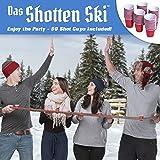 GoPong Das Shotten Ski | Rustic Wood 4 Person