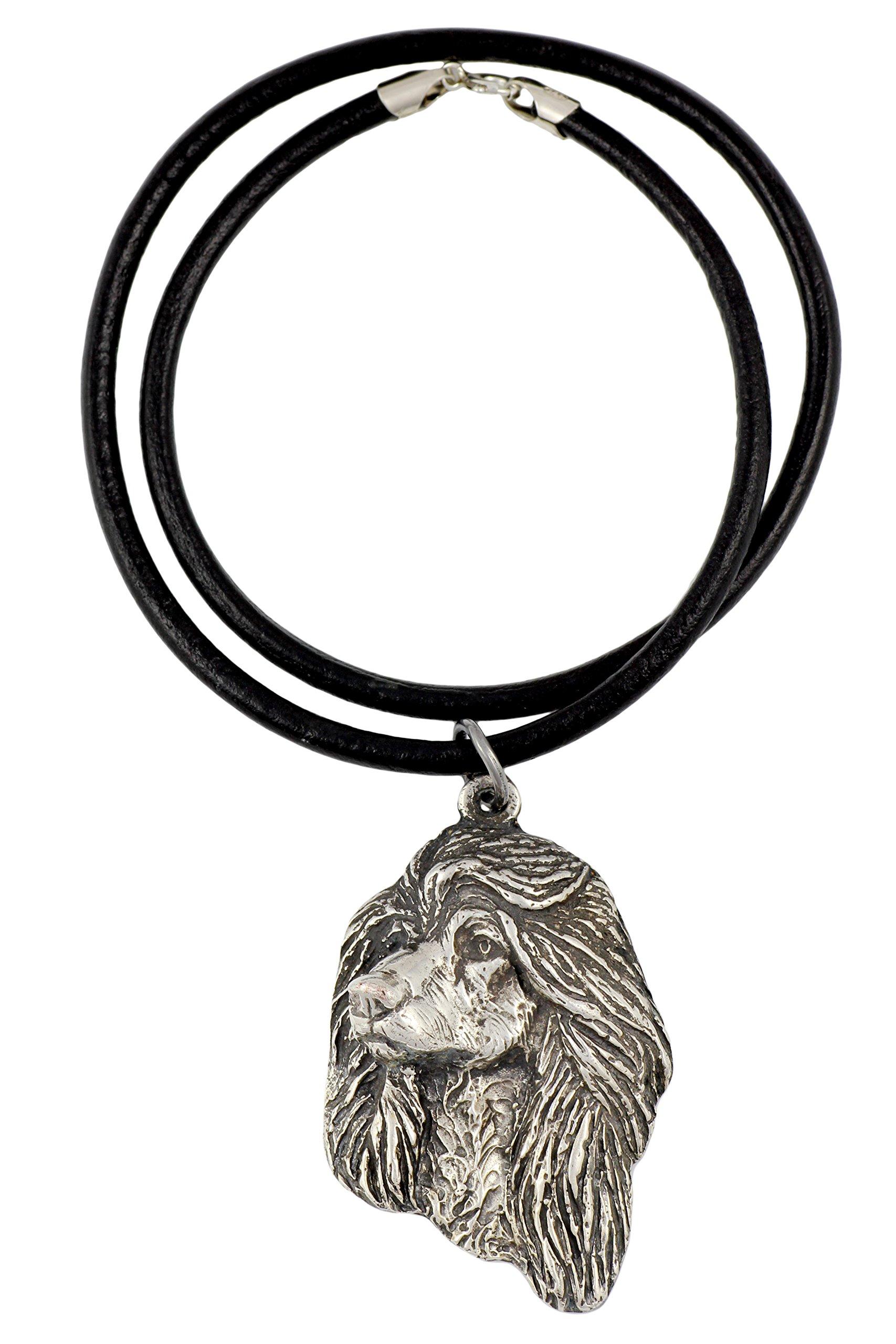 Afghan Hound, Ogar Afgan, Tazhi Spay, Silver Hallmark 925, Dog Silver Necklaces, Limited Edition, Artdog
