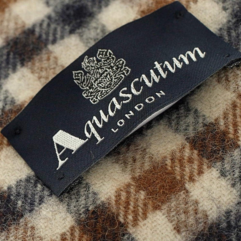 Marrone Aquascutum Uomo Lambswool CC Checked Scarf
