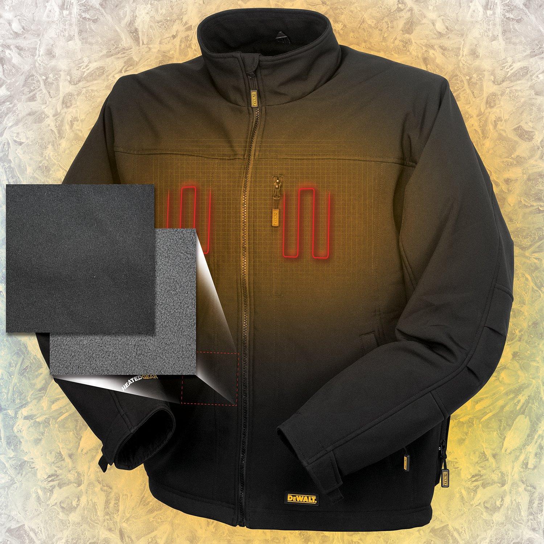 1d71019b1d9d4 DEWALT DCHJ060C1-3XL 20V/12V Max Black Heated Jacket Kit, 3X-Large:  Amazon.ca: Tools & Home Improvement