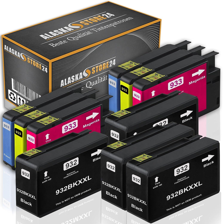 10x Cartuchos de Tinta compatibles HP 932XL 933XL (4Bk / 2C / 2M / 2Y)
