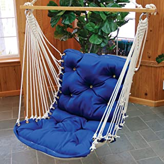 product image for Nags Head Hammocks Royal Blue Sunbrella Tufted Single Swing with Free Hanging Hardware, 350 LB Weight Capacity, Handcrafted in The USA, Perfect for Indoor or Outdoor Use