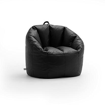 Amazon.com  Big Joe Lux Milano Shag Fur Chair Black  Kitchen   Dining 96f0f2e184b93