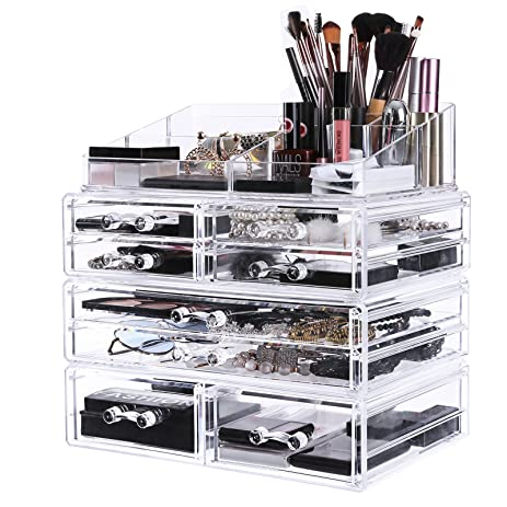 Amazoncom SONGMICS Extra Large Makeup Organizer with 8 Drawers