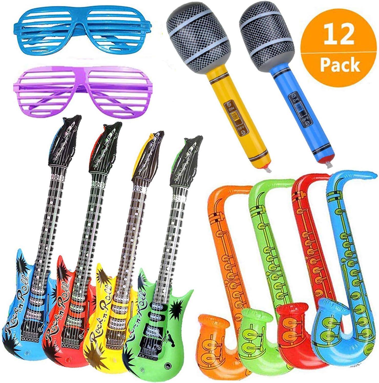 Guitarra Inflable Saxofón Micrófono Accesorios para Instrumentos ...