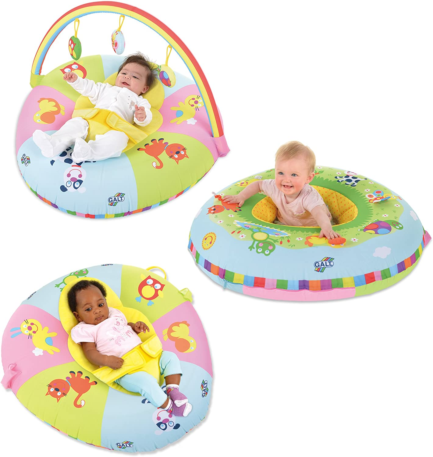 Galt Toys, 3 in 1 Playnest & Gym, Baby Activity Center & Floor Seat, Ages 0+, Multicolor, Model:1004819