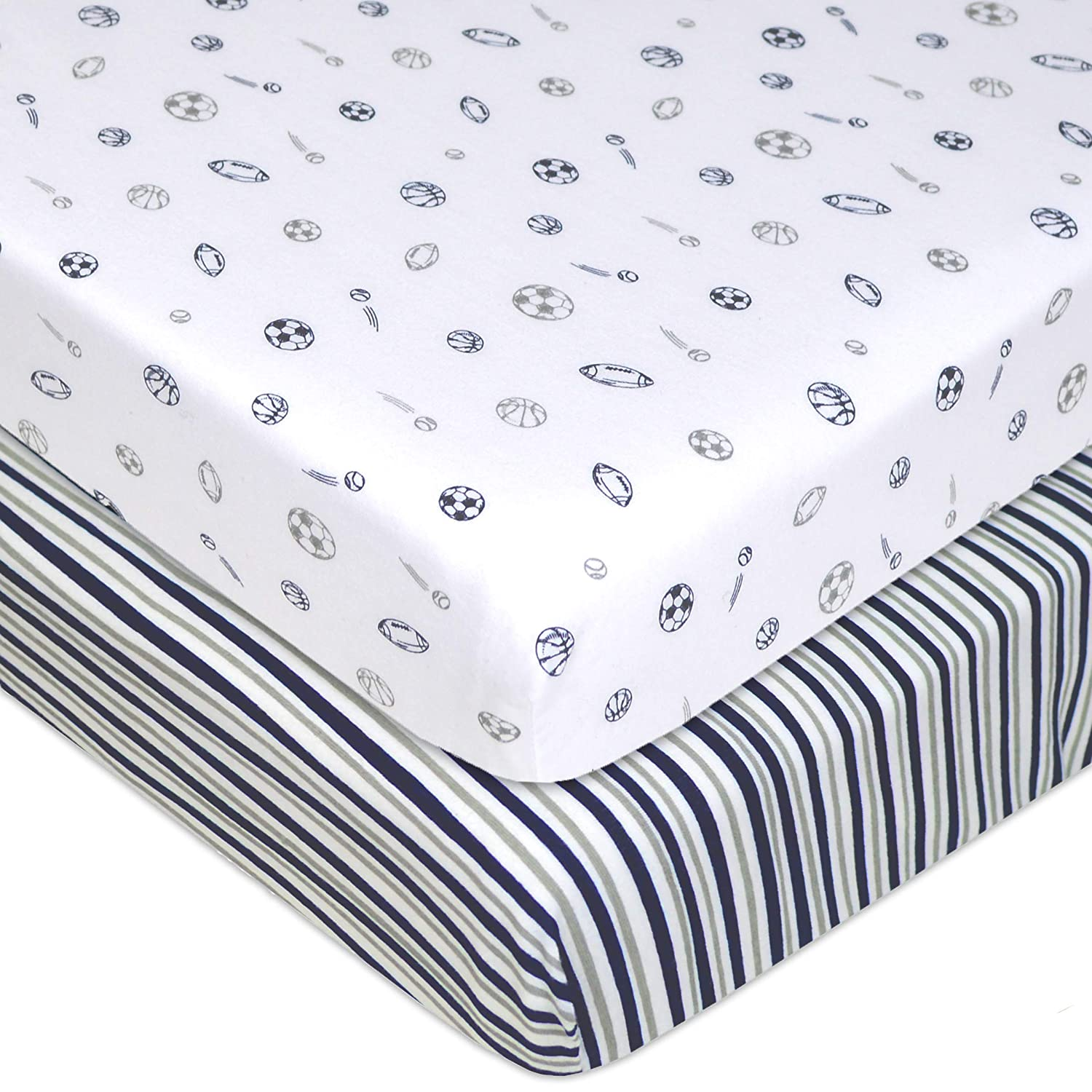 American Baby Company 100% Cotton Value Jersey Knit Fitted Portable/Mini-Crib Sheet, Ecru 3553-EC