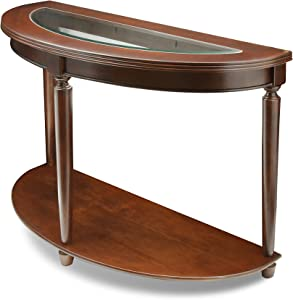 Furniture of America Western Beveled Glass Top Sofa Table, Dark Cherry Finish